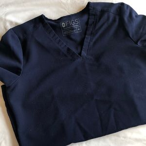 FIGS navy xs scrub set technical collection